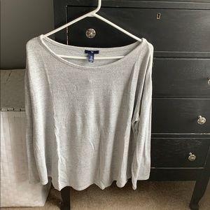 Comfy gray long sleeve top